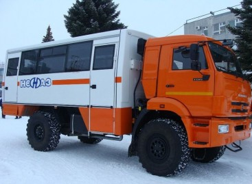 Modernizuotas NEFAZ visureigis autobusas