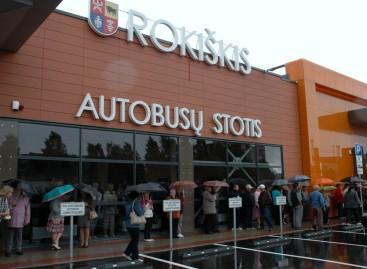 Rokiškyje – nauja, moderni autobusų stotis