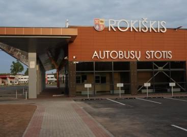 Duris atveria nauja Rokiškio autobusų stotis