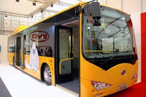 Pasaulio specialiosios olimpiados dalyvius vežiojo elektriniai BYD autobusai