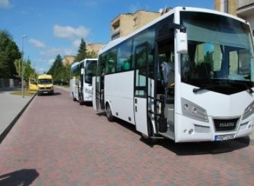 Šalčininkuose – dar du nauji autobusai