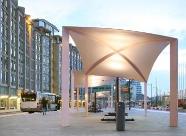 Architektų kurtos autobusų stotelės Roterdame