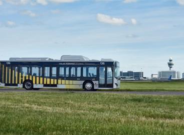 Amsterdamo Schipholo oro uoste pradėjo važinėti elektriniai autobusai