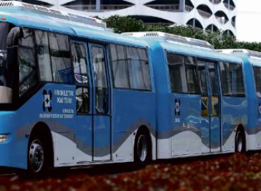 Filipinuose pristatytas autobuso ir traukinio hibridas