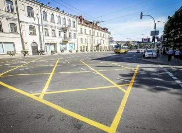Naujas sankryžų ženklinimas Vilniuje pasiteisino