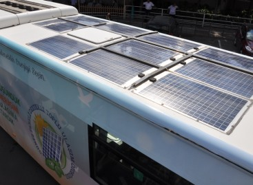 Ankaroje pristatytas saulės baterijomis varomas autobusas