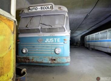 Tunelyje – apleisti autobusai
