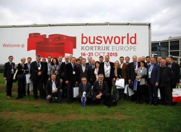 """Keleivių vežėjai lankėsi """"Busworld Europe 2015″ parodoje"""