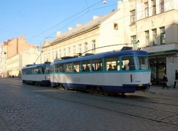 Senieji Rygos tramvajai veža keleivius Odesoje