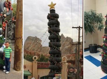 Kalėdų puošmenos – iš senų padangų