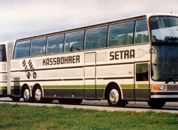 """""""Setra SG 221 HDS"""" – vienintelis turistinis autobusas su priekaba"""