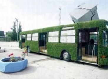 Žole apaugęs autobusas