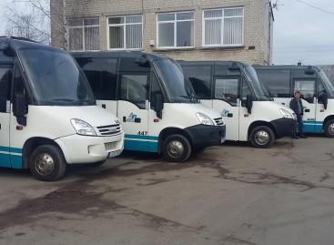 Mažeikių autobusų parke – naujesni mikroautobusai