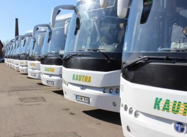 Kauniečių autobusai pasipuošė naujomis žvaigždutėmis
