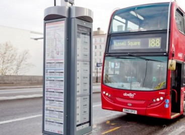 Londono autobusų stotelėse – elektroninis popierius