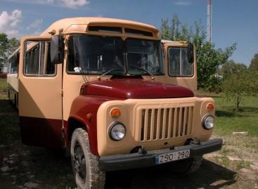 Joniškio rajono keliais teberieda KAvZ autobusas