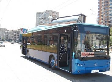 Ukrainiečiai pristatė gamtinėmis dujomis varomą autobusą