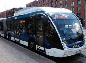Bulgarijos Burgaso mieste – modernūs metrobusai