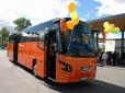 Mažeikiuose pristatytas pirmasis Baltijos šalyse naujas olandiškas autobusas