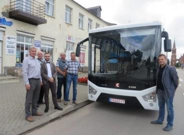 """Rokiškėnai susipažino su """"Karsan"""" autobusais"""