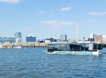 Hamburge – apžvalginės ekskursijos plaukiojančiu autobusu