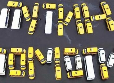 Protestuojantys Rusijos autobusų vairuotojai kreipėsi į Putiną