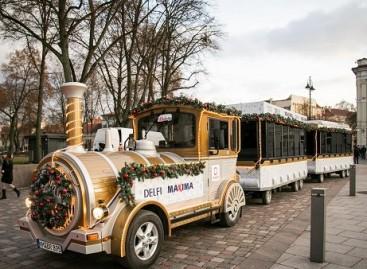 Kalėdų traukinukas išriedėjo į Vilniaus gatves