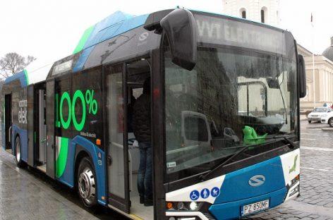 """Elektrinis """"Solaris Urbino"""" išbandomas Taline"""