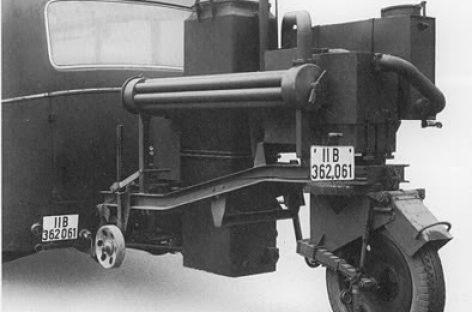 Vokiški autobusai su dujų generatoriais