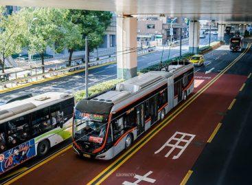 Šanchajuje – greitųjų troleibusų linija