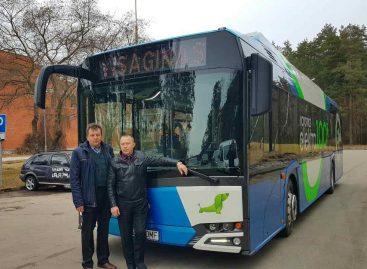 Elektrinis autobusas aplankė Visaginą