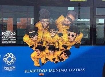Meninės akcijos – ant uostamiesčio autobusų