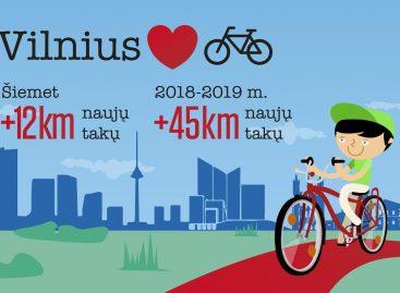 Šiemet Vilniuje planuojama tiesti bent 12 km naujų dviračių takų
