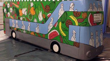 Gatvės menas: ant viešojo transporto ir apie viešąjį transportą