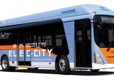 """""""Hyundai"""" autobusai vieną kartą įkrautomis baterijomis nuvažiuos 260 kilometrų"""