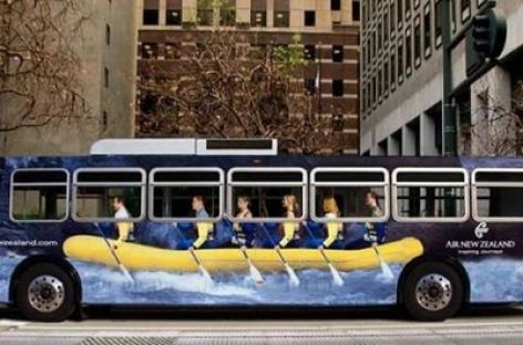Įdomios reklamos – ant autobusų