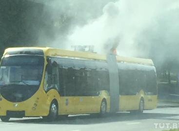 Minske antrą kartą šį rudenį užsidegė elektrinis autobusas