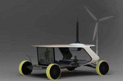 """""""Aerotonos"""" – vėjo ir saulės energija varomas autobusas"""