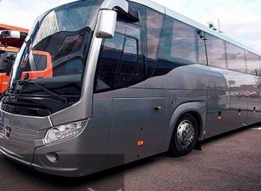 Rusijoje pristatytas Pasaulio futbolo čempionato autobusas