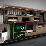 Picture shows: The Simba Snoozeliner –  Bleary-eyed revellers could soon be ferried home in the early hours of the morning on this ultra-luxurious night bus - fitted with BEDS.Passengers on the late-night shuttle, which its designers hope will eventual