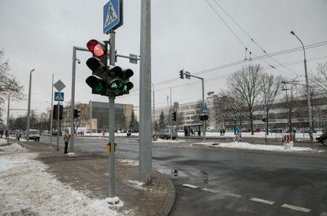 Žirmūnų ir Kalvarijų g. Vilniuje pradės veikti naujai įrengti šviesoforai