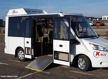 K-BUS – elektrinis mikroautobusas su saulės baterijomis