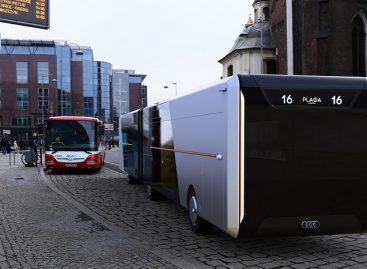 """""""Audi"""" pristatė miesto autobuso konceptą"""