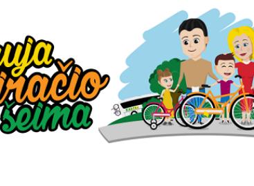 """Kaune – akcija """"Nauja dviračio šeima"""""""