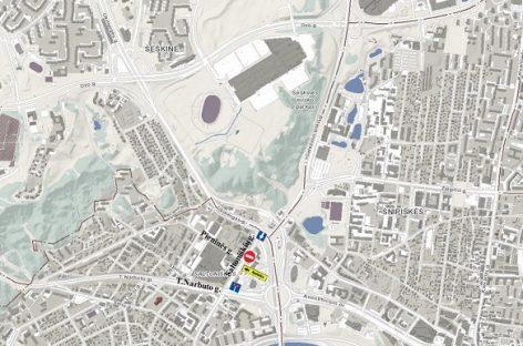 Dėl planuotų darbų Vilniaus Saltoniškių gatvės dalyje – laikini eismo pakeitimai