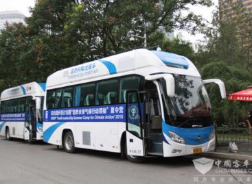 Kiniečiai vis daugiau dėmesio skiria alternatyvius degalus naudojantiems autobusams