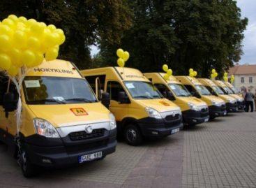 Lietuvos keliuose – dar 160 naujų mokyklinių autobusų