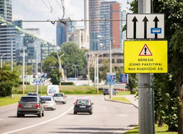 Vienoje iš centrinių sostinės žiedinių sankryžų – vairuotojams aiškesnis ženklinimas