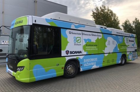 """Švedijos koncernas """"Scania"""" transportui skirtų vandenilio technologijų testams pasirinko Lietuvą"""