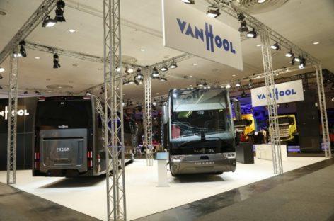 """Hanoverio IAA """"Van Hool"""" pristatė naują autobusų važiuoklę"""